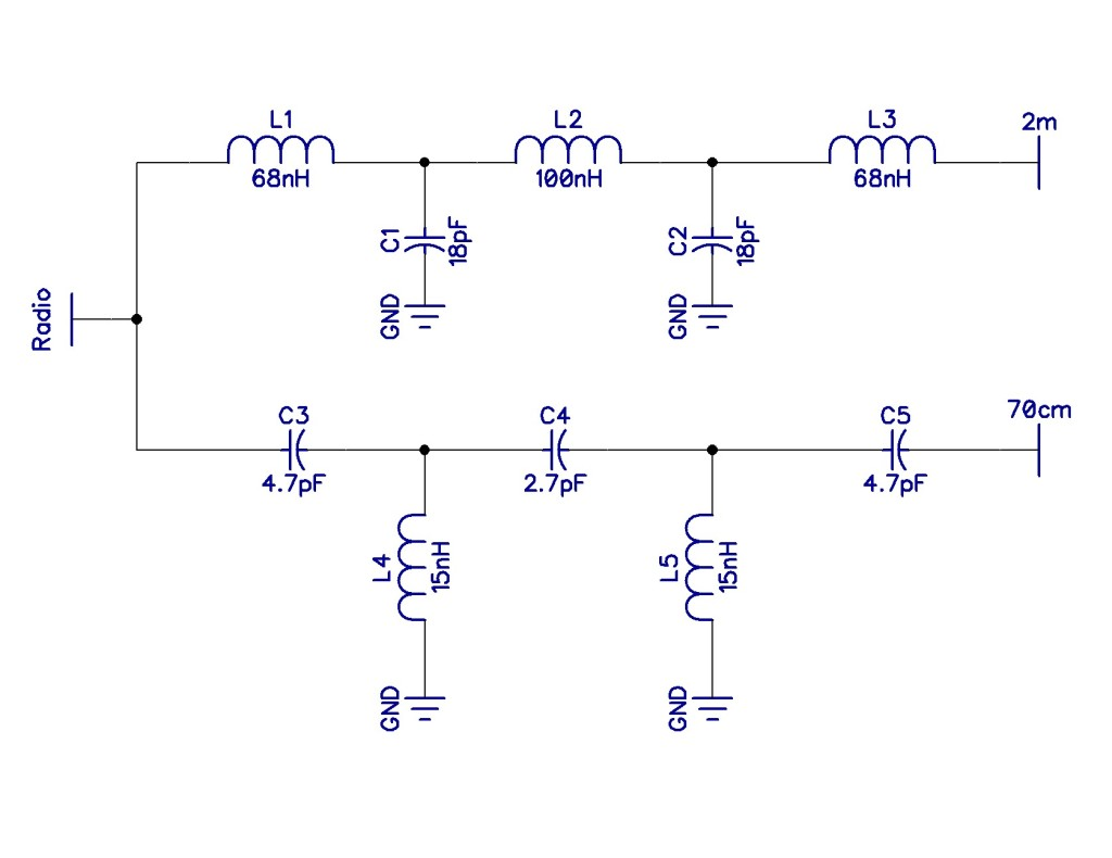Micro-Diplexer Schematic